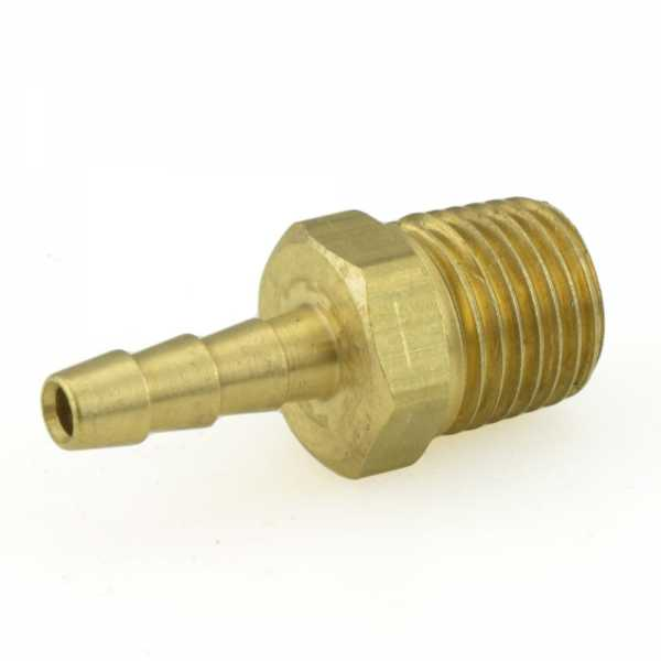 """3/16"""" Hose Barb x 1/4"""" Male Threaded Brass Adapter"""