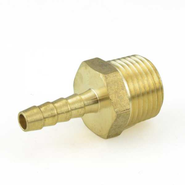 "1/4"" Hose Barb x 1/2"" Male Threaded Brass Adapter"
