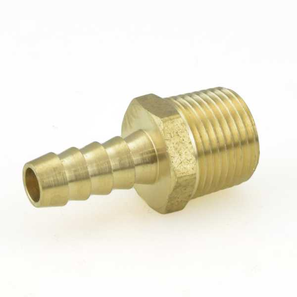 """5/16"""" Hose Barb x 3/8"""" Male Threaded Brass Adapter"""