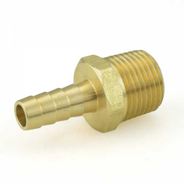 """3/8"""" Hose Barb x 1/2"""" Male Threaded Brass Adapter"""