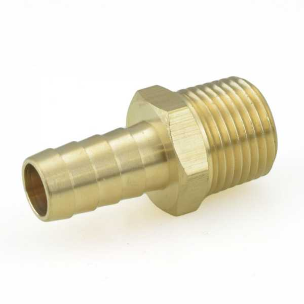 "1/2"" Hose Barb x 1/2"" Male Threaded Brass Adapter"