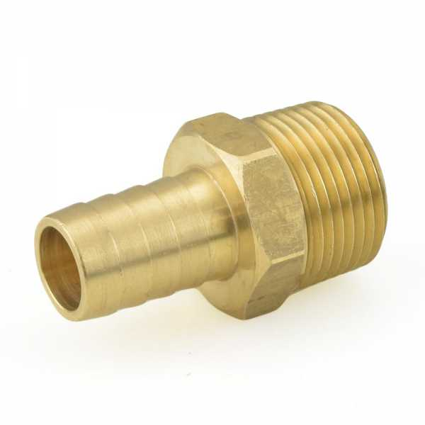 """5/8"""" Hose Barb x 3/4"""" Male Threaded Brass Adapter"""