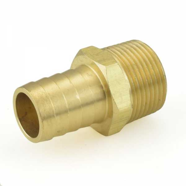 "3/4"" Hose Barb x 3/4"" Male Threaded Brass Adapter"