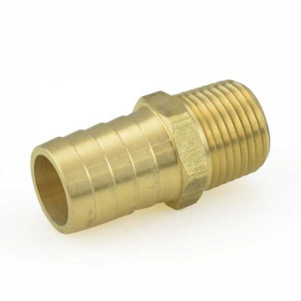 "3/4"" Hose Barb x 1/2"" Male Threaded Brass Adapter"