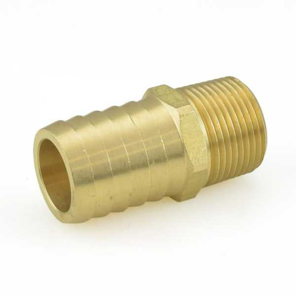 "1"" Hose Barb x 3/4"" Male Threaded Brass Adapter"