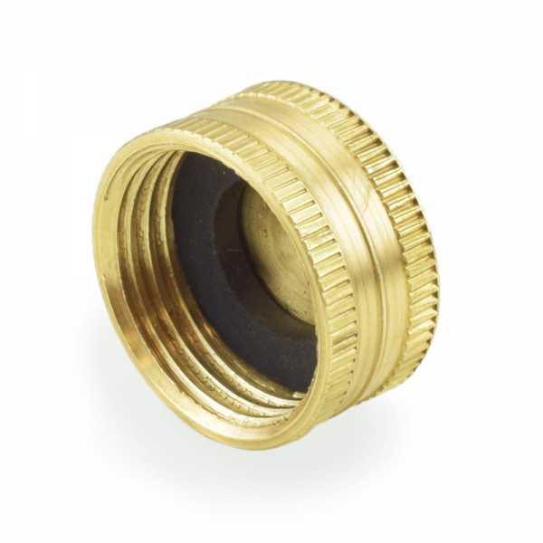"3/4"" Garden Hose Brass Cap w/ Washer, Lead-Free"