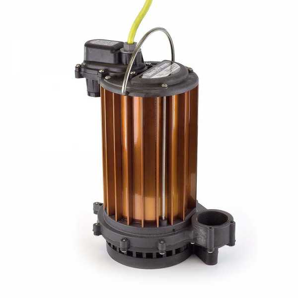 Manual High Temperature Sump Pump (180F), 10' cord, 1/2HP, 115V