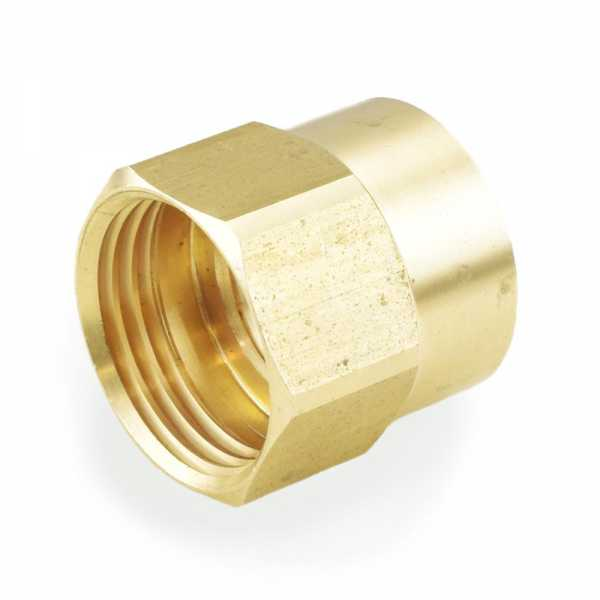 "3/4"" FGH x 1/2"" FIP Brass Adapter, Lead-Free"