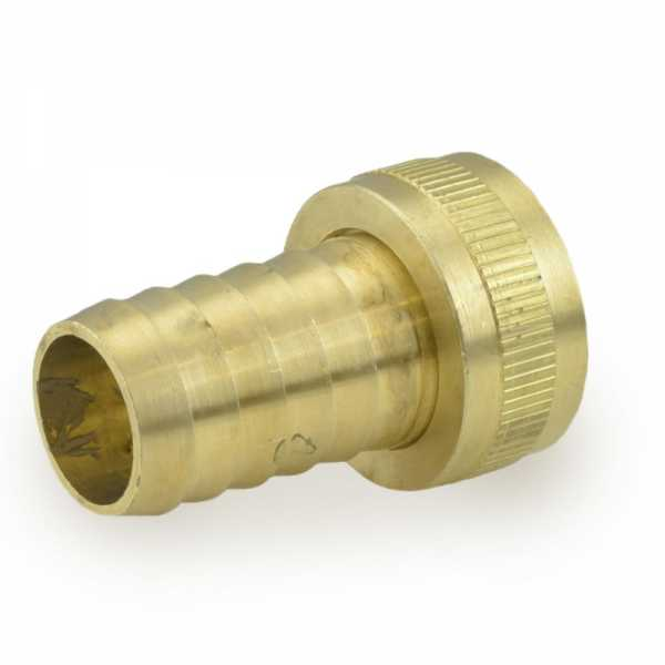 "3/4"" FGH x 3/4"" Hose Barb Swivel Brass Adapter, Lead Free"