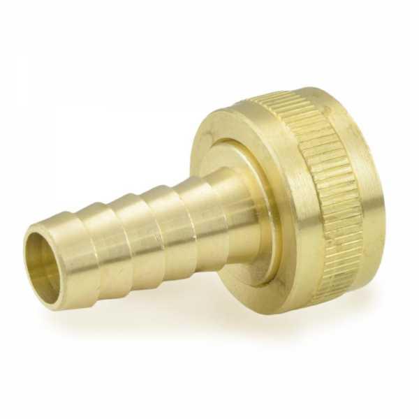 "3/4"" FGH x 1/2"" Hose Barb Swivel Brass Adapter"