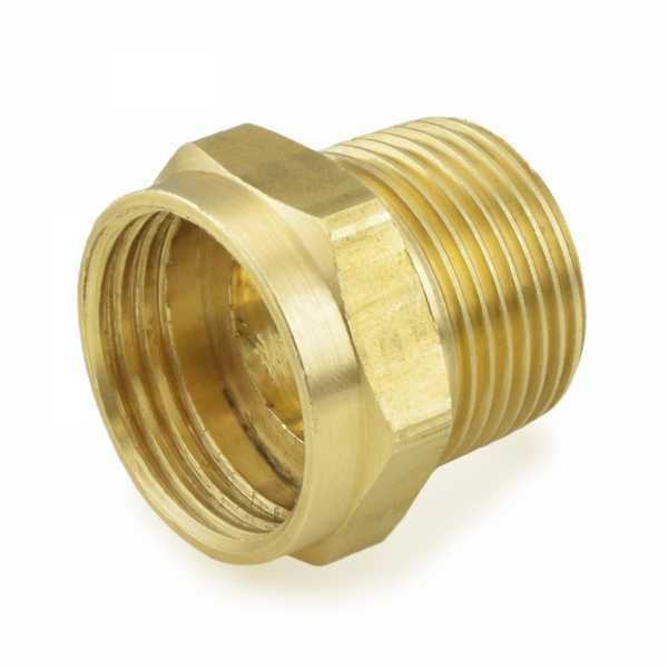 "3/4"" FGH x 3/4"" MIP Brass Adapter, Lead-Free"