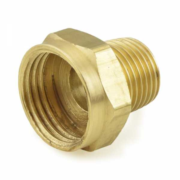 "3/4"" FGH x 1/2"" MIP Brass Adapter, Lead-Free"