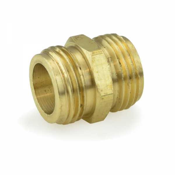 "3/4"" MGH x 3/4"" MGH (tapped 1/2"" FIP) Brass Coupling, Lead-Free"