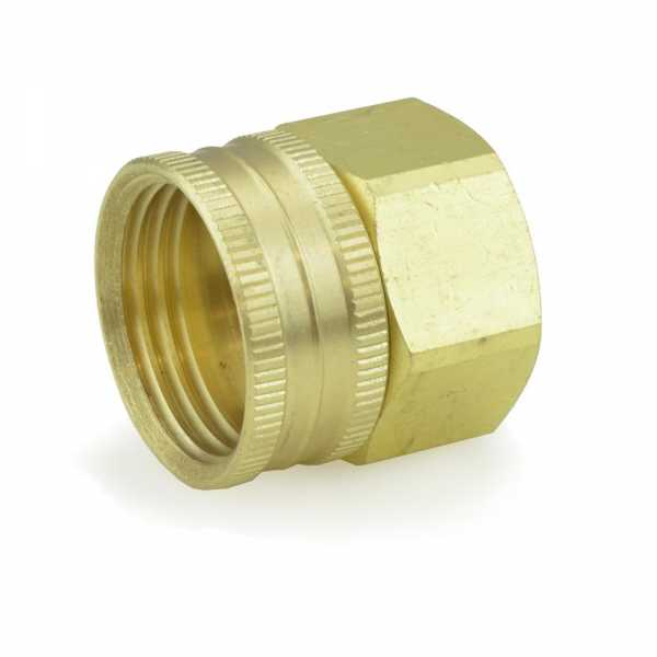 "3/4"" FGH x 3/4"" FIP Swivel Brass Adapter, Lead-Free"