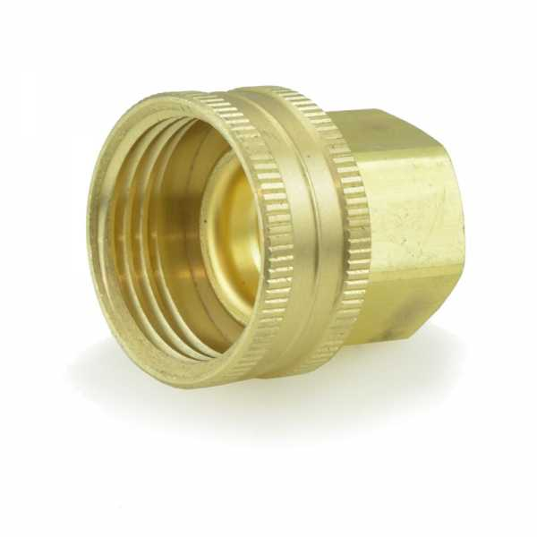 "3/4"" FGH x 1/2"" FIP Swivel Brass Adapter, Lead-Free"
