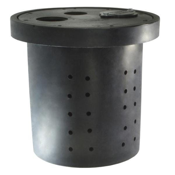"Crawl Space Sump Basin, 16.5"" x 15"", Perforated"