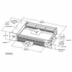 K84 Kickspace Heater Twin-Flo III, 3370-10360 BTU, 103 CFM