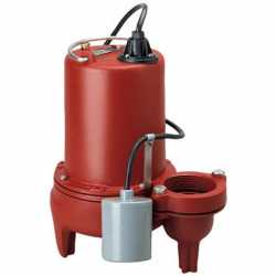 Automatic Sewage Pump w/ Wide Angle Float Switch, 1HP, 10' cord, 208/230V