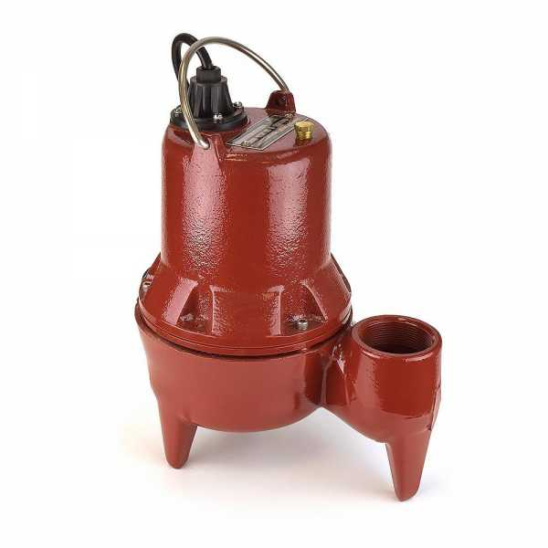 Manual Sewage Pump, 10' cord, 4/10HP, 115V