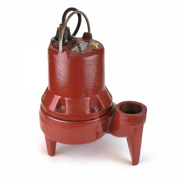 Manual Sewage Pump, 1/2HP, 10' cord, 115V
