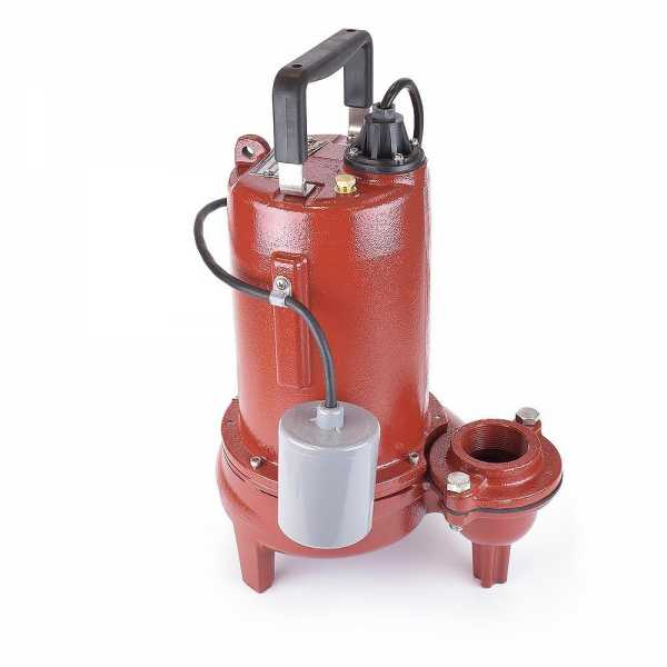 Automatic Sewage Pump w/ Wide Angle Float Switch, 3/4HP, 10' cord, 115V