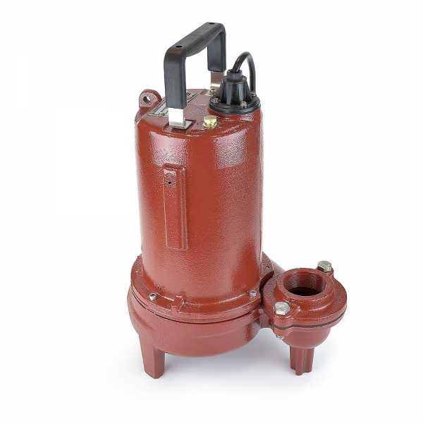 Manual Sewage Pump, 3/4HP, 10' cord, 115V