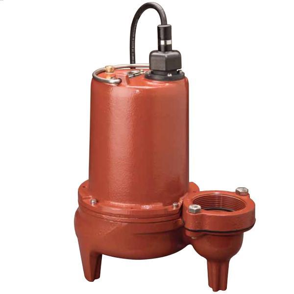 "Manual High Head Sewage Pump, 25'' cord, 1 HP, 2"" Discharge, 208/230V, 3-Phase"