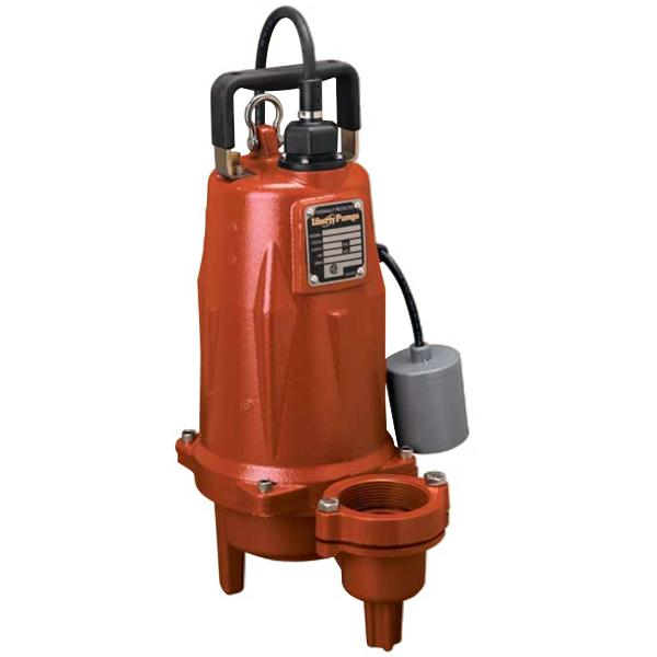 Automatic Sewage Pump w/ Wide Angle Float Switch, 1-1/2HP, 25' cord, 208/230V, 3-Phase