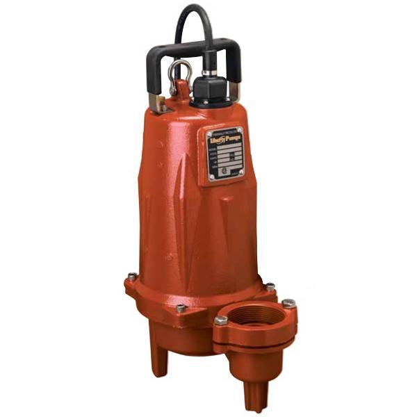 "Liberty Pumps LEH154M2-2 1 1/2 HP Manual Sewage Pump, 440V ~ 480V, 25"" cord"