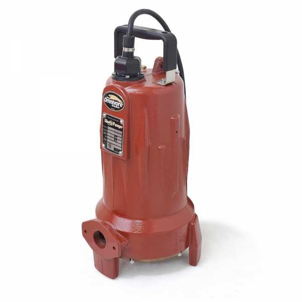 Manual Omnivore Grinder Pump, 2HP, 35' cord, 208/230V