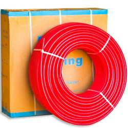 """1"""" x 300 ft. PEX Plumbing Pipe, Non-Barrier (Red)"""