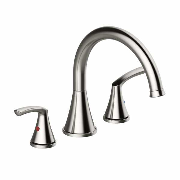 Roman Tub Faucet w/ Rough-in Valve, Brushed Nickel (Angelic Series)