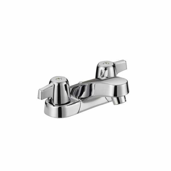 "OmniPro Low-Arc 4"" Centerset Bathroom Faucet w/ Wrist Blade Handles, less Pop-Up, Chrome (Classic series)"