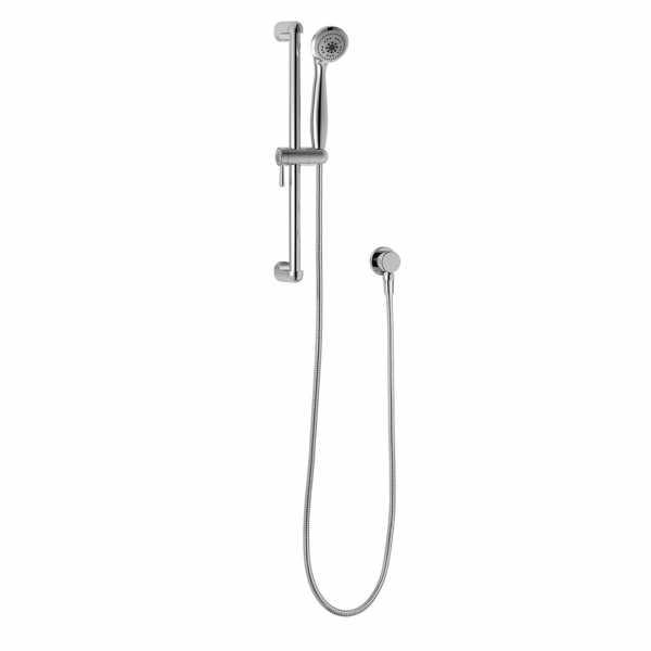 "Wall-Mount Bar Handheld Shower w/ 5-Settings Head, 72"" Hose and Shut-Off, Chrome"