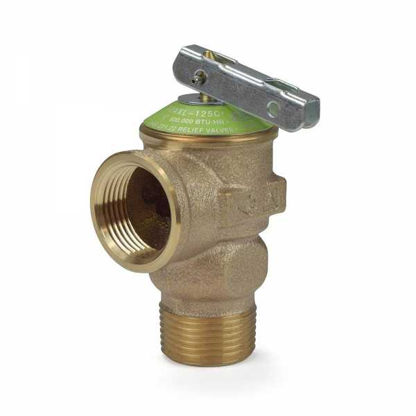 "3/4"" Pressure Relief Valve 125 psi (Lead-Free)"