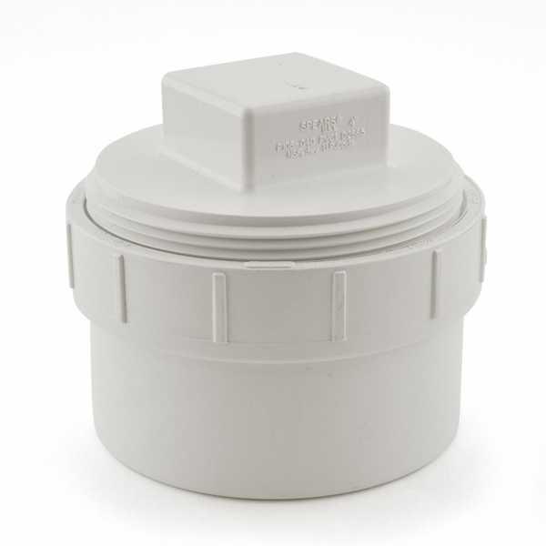 """4"""" PVC DWV Cleanout Adapter (Spigot) w/ Plug"""