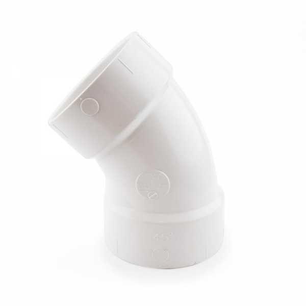 """3"""" PVC DWV 45° Elbow"""
