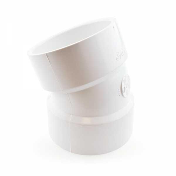"""3"""" PVC DWV 22.5° Elbow"""