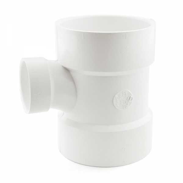"4"" x 4"" x 2"" PVC DWV Sanitary Tee"