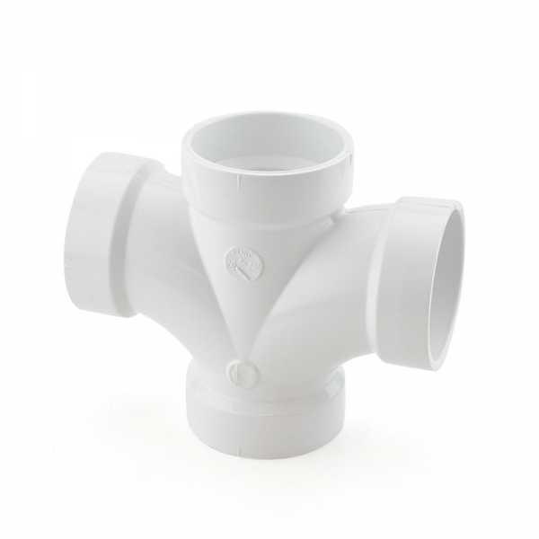 """2"""" PVC DWV Double Sanitary Tee"""