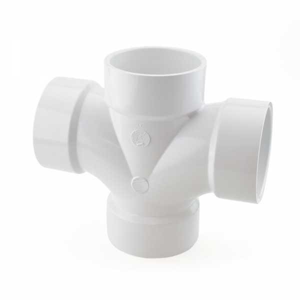 """3"""" PVC DWV Double Sanitary Tee"""