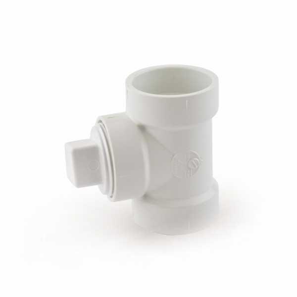 "1-1/2"" PVC DWV Cleanout Tee w/ Plug"