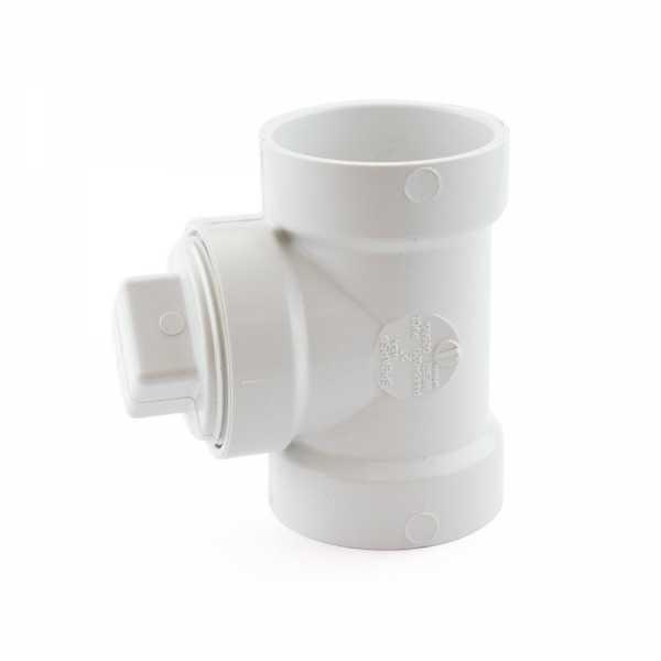 "2"" PVC DWV Cleanout Tee w/ Plug"