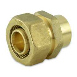 "3/4"" PEX-AL-PEX Compression x 3/4"" Female Sweat Adapter"