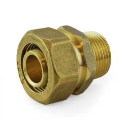 "3/4"" PEX-AL-PEX Compression x 3/4"" Male Threaded Adapter"