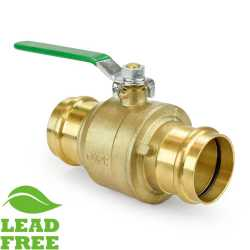 "2"" Press Brass Ball Valve, Full Port (Lead-Free)"