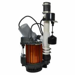 Sump Pump Combo (1/3HP Sump Pump & 12V Battery Sump Pump) Back-up System, 115V