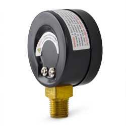"""0-100 psi Pressure Gauge, 2"""" Dial, 1/4"""" NPT"""