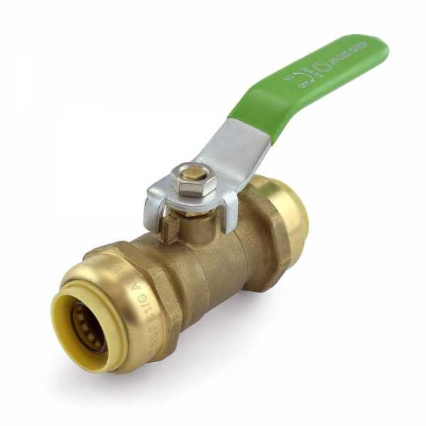 """3/4"""" x 3/4"""" Push To Connect Ball Valve, Lead-Free"""