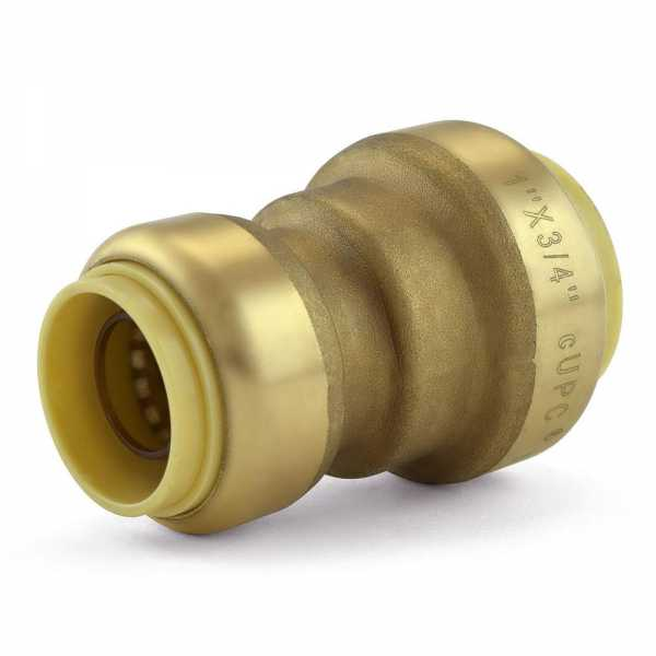 "1"" x 3/4"" Push To Connect Reducing Coupling, Lead-Free"